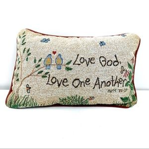 Accent Pillow - Live God Love One Another